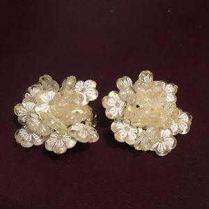 Jewelry - Vintage Mid-Century Clip-On Earrings